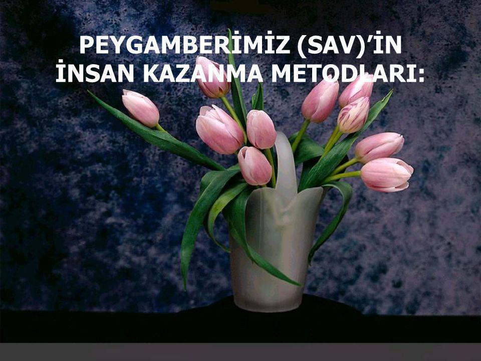 PEYGAMBERİMİZ (SAV)'İN İNSAN KAZANMA METODLARI: