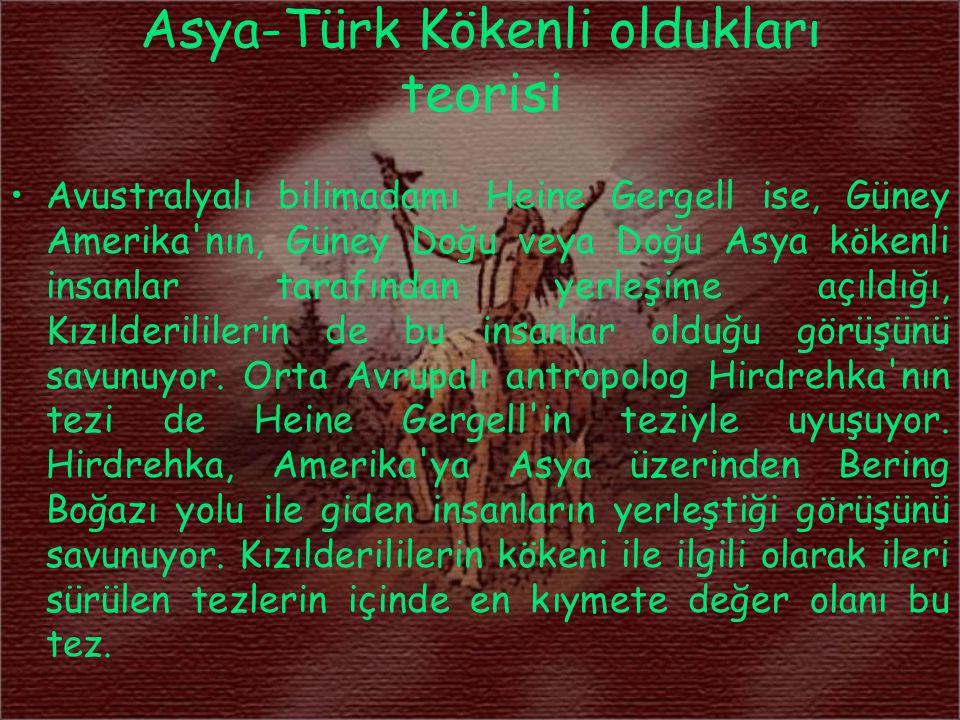 Asya-Türk Kökenli oldukları teorisi