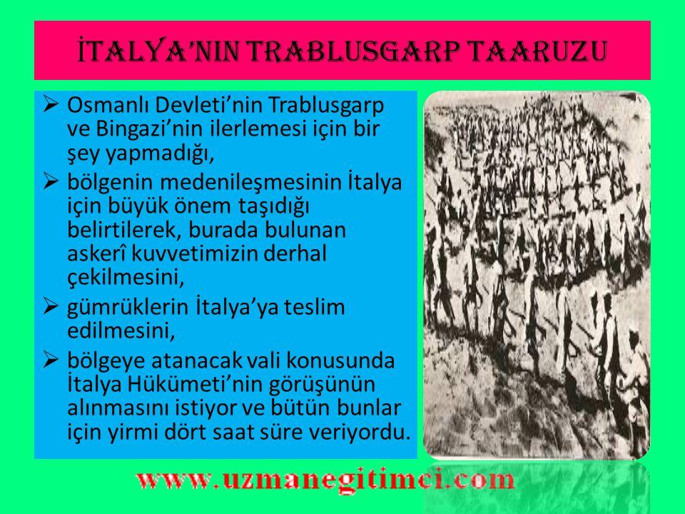 İTALYA'NIN TRABLUSGARP TAARUZU