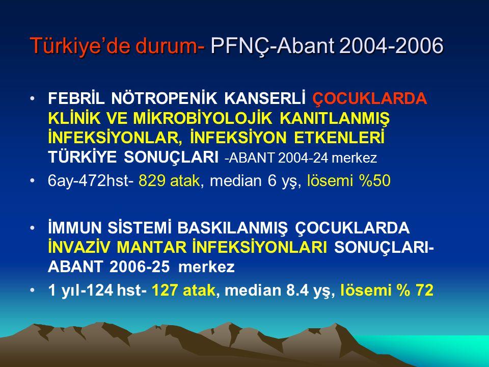 Türkiye'de durum- PFNÇ-Abant 2004-2006