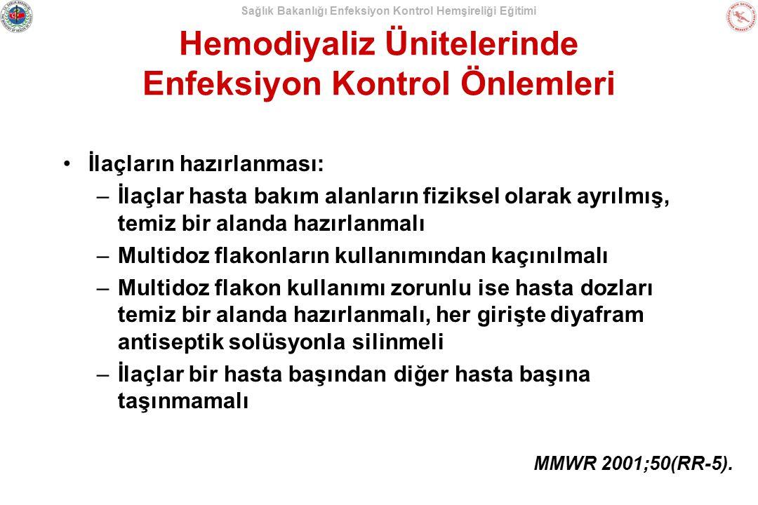 Hemodiyaliz Ünitelerinde Enfeksiyon Kontrol Önlemleri