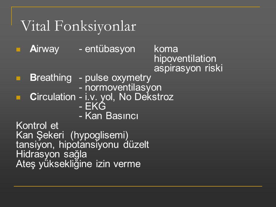 Vital Fonksiyonlar Airway - entübasyon koma