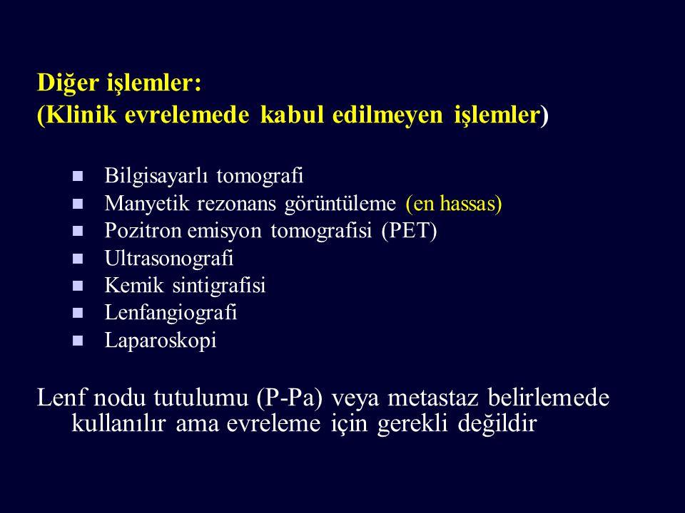(Klinik evrelemede kabul edilmeyen işlemler)