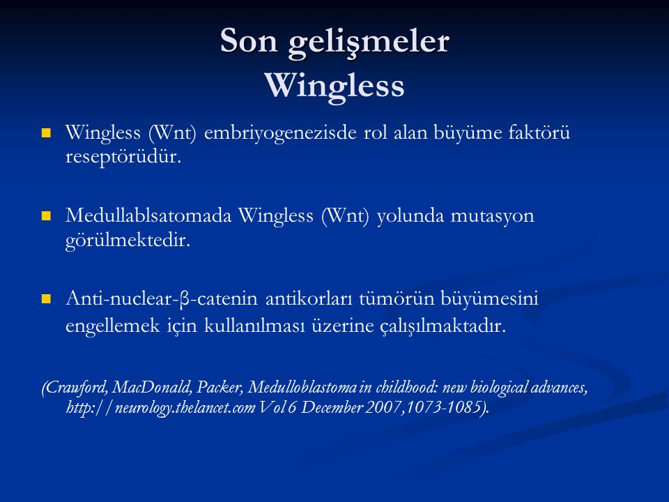 Son gelişmeler Wingless