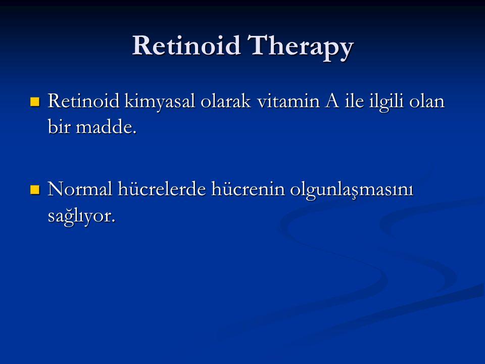 Retinoid Therapy Retinoid kimyasal olarak vitamin A ile ilgili olan bir madde.
