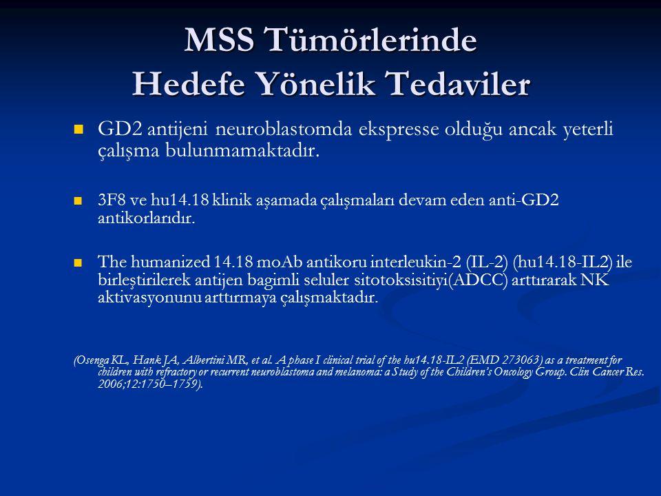 MSS Tümörlerinde Hedefe Yönelik Tedaviler