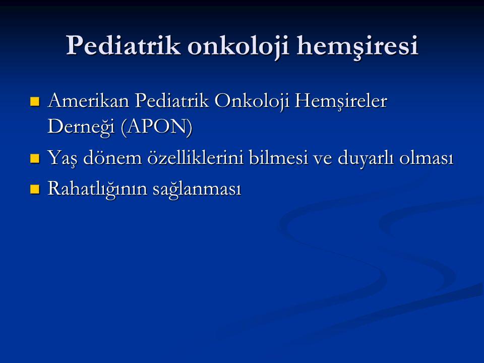 Pediatrik onkoloji hemşiresi