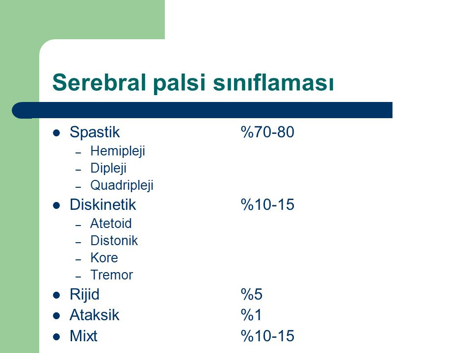 Serebral palsi sınıflaması