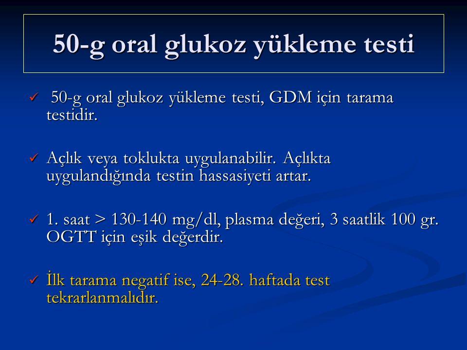 50-g oral glukoz yükleme testi