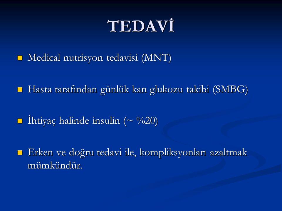 TEDAVİ Medical nutrisyon tedavisi (MNT)