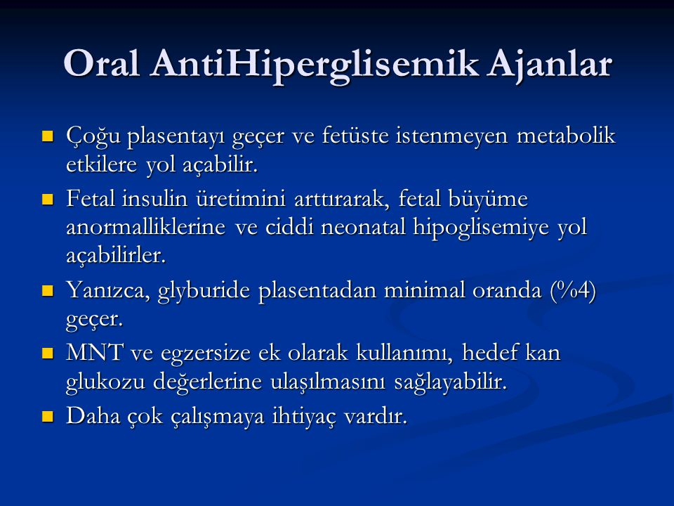 Oral AntiHiperglisemik Ajanlar