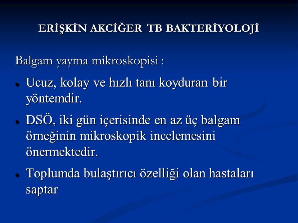ERİŞKİN AKCİĞER TB BAKTERİYOLOJİ