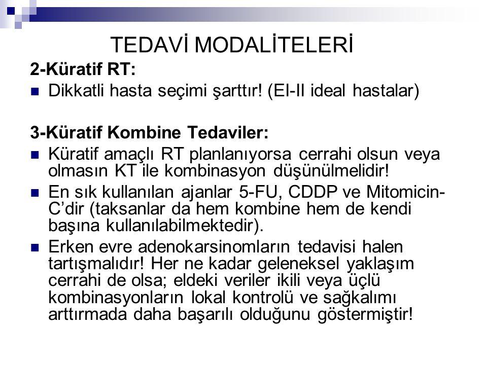 TEDAVİ MODALİTELERİ 2-Küratif RT: