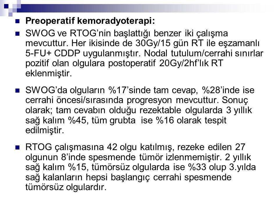 Preoperatif kemoradyoterapi: