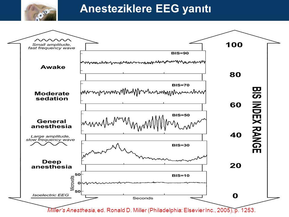 Anesteziklere EEG yanıtı