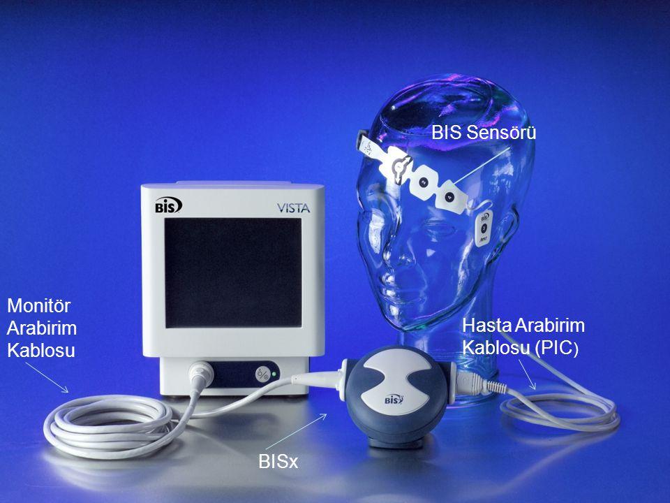 BIS Sensörü Monitör Arabirim Kablosu Hasta Arabirim Kablosu (PIC) BISx