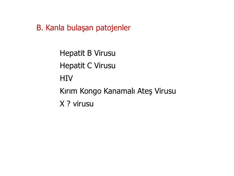 B. Kanla bulaşan patojenler