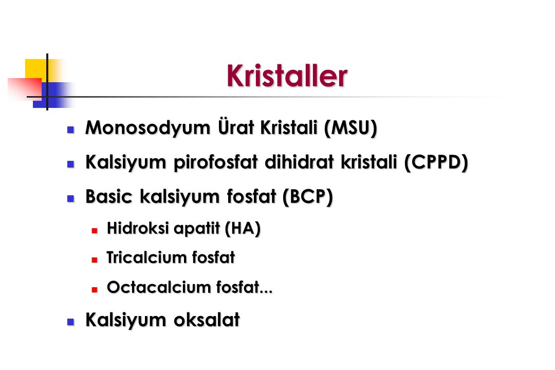 Kristaller Monosodyum Ürat Kristali (MSU)