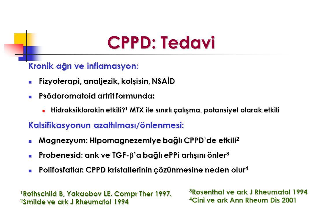 CPPD: Tedavi Kronik ağrı ve inflamasyon: