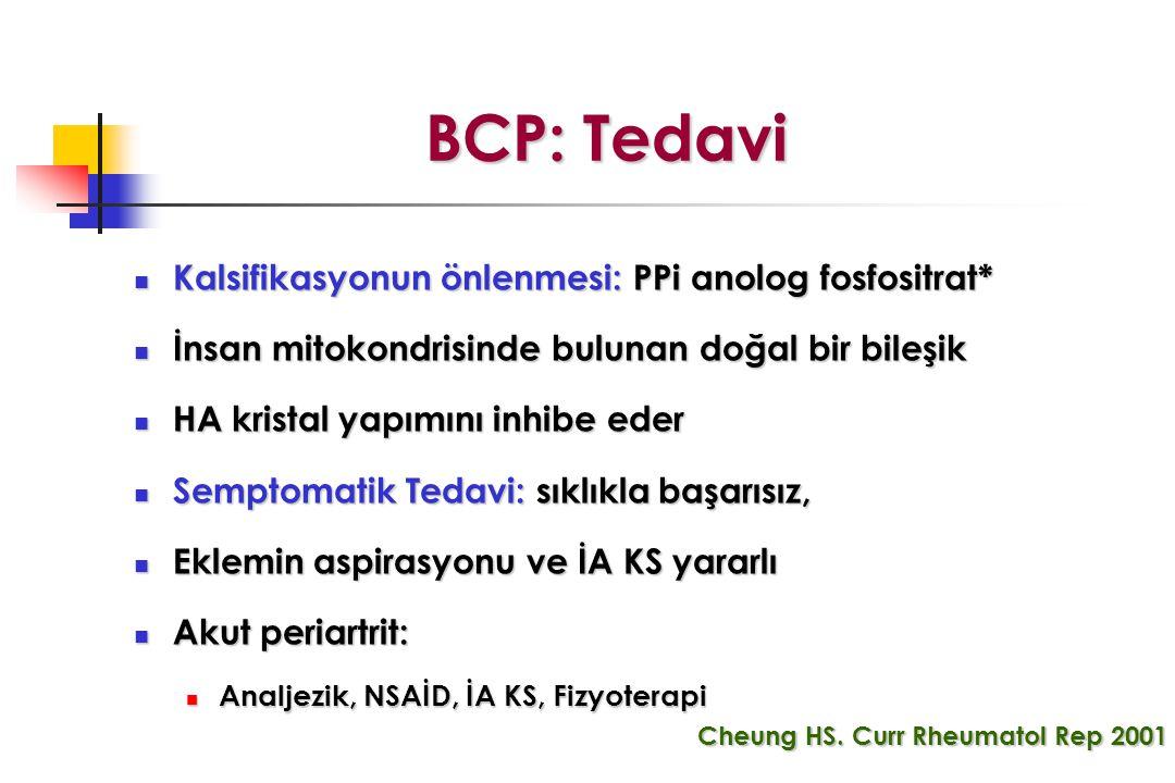 BCP: Tedavi Kalsifikasyonun önlenmesi: PPi anolog fosfositrat*