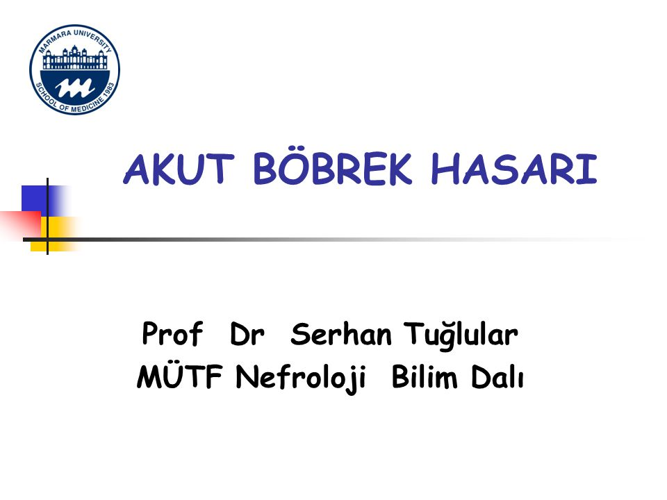 Prof Dr Serhan Tuğlular MÜTF Nefroloji Bilim Dalı
