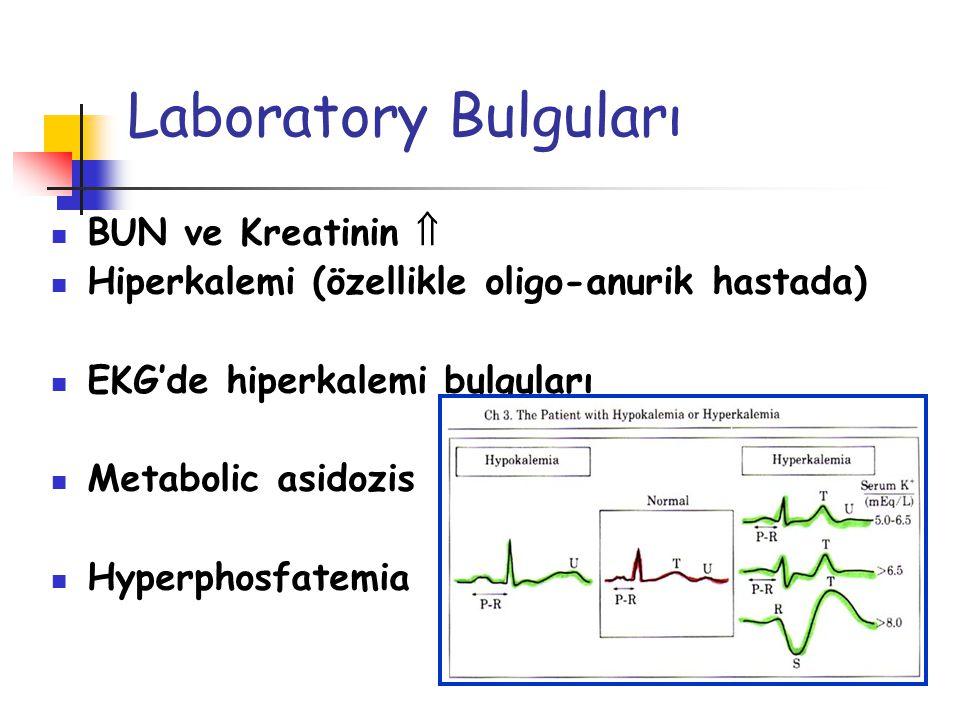Laboratory Bulguları BUN ve Kreatinin 