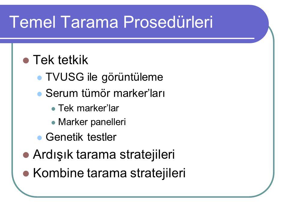 Temel Tarama Prosedürleri