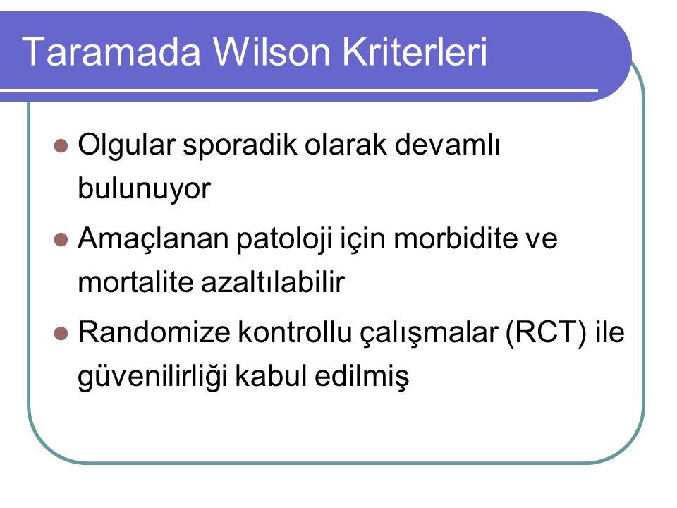 Taramada Wilson Kriterleri