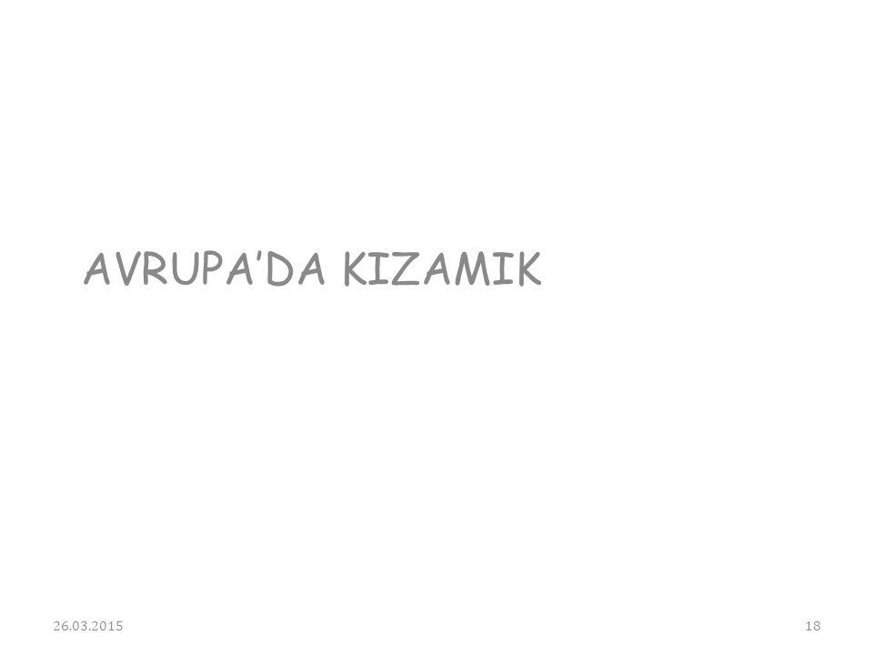 AVRUPA'DA KIZAMIK 08.04.2017