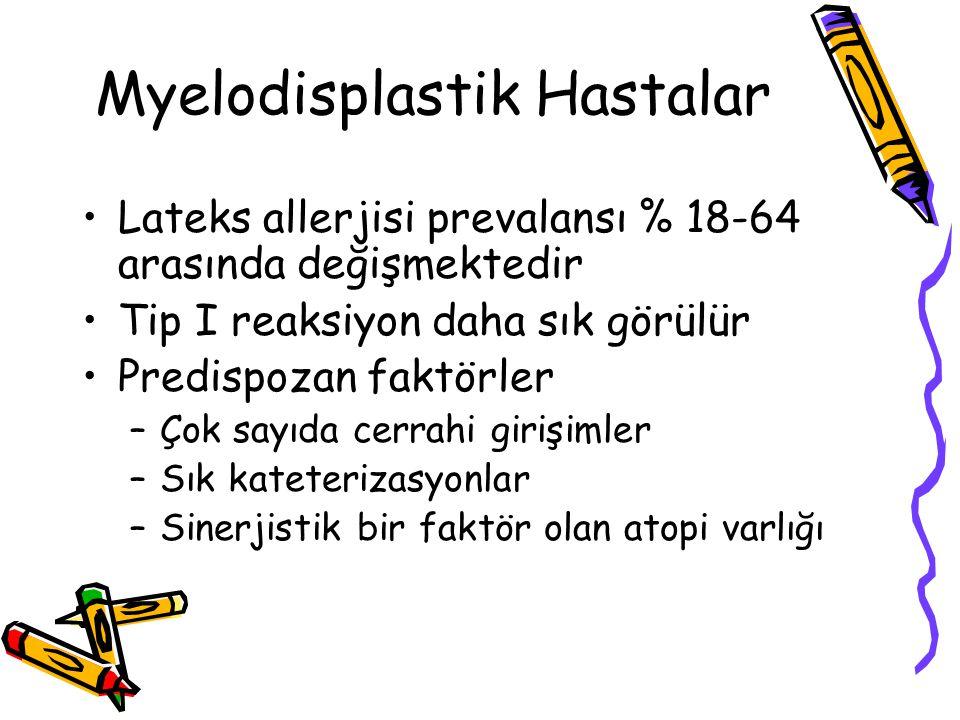 Myelodisplastik Hastalar