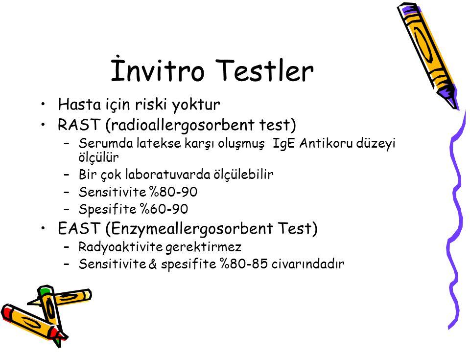 İnvitro Testler Hasta için riski yoktur
