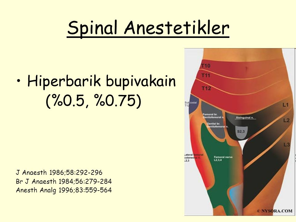 Spinal Anestetikler Hiperbarik bupivakain (%0.5, %0.75)