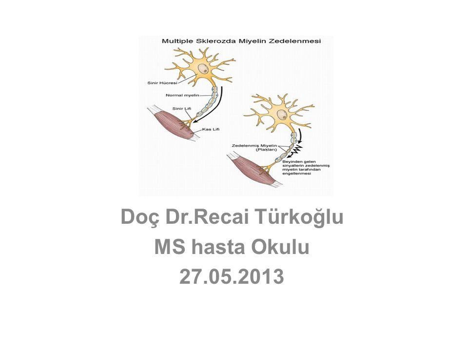 Doç Dr.Recai Türkoğlu MS hasta Okulu 27.05.2013