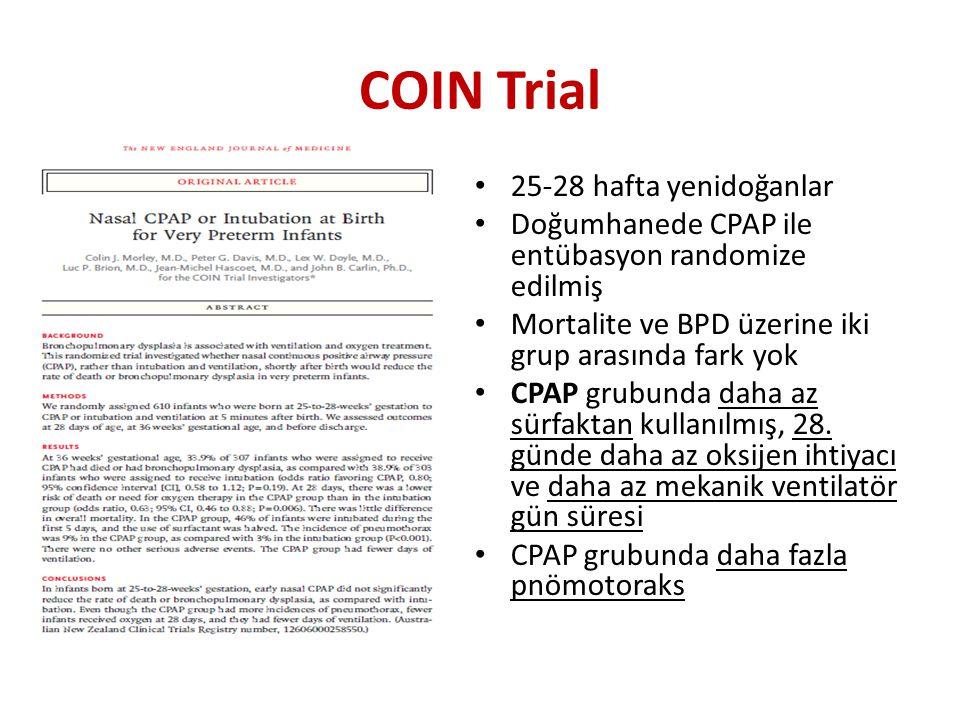 COIN Trial 25-28 hafta yenidoğanlar