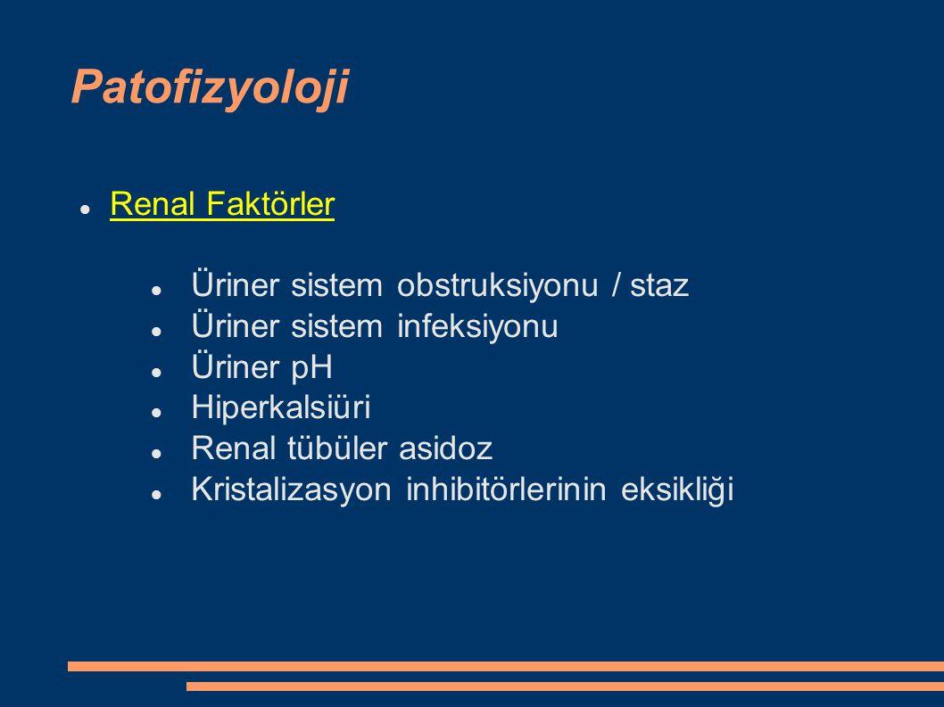 Patofizyoloji Renal Faktörler Üriner sistem obstruksiyonu / staz