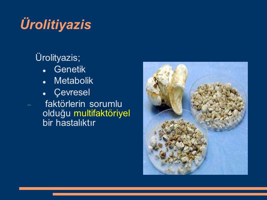 Ürolitiyazis Ürolityazis; Genetik Metabolik Çevresel