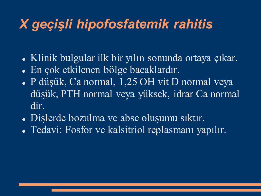 X geçişli hipofosfatemik rahitis