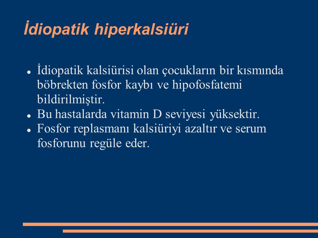 İdiopatik hiperkalsiüri