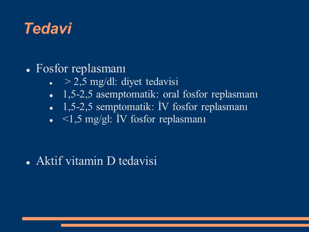 Tedavi Fosfor replasmanı Aktif vitamin D tedavisi
