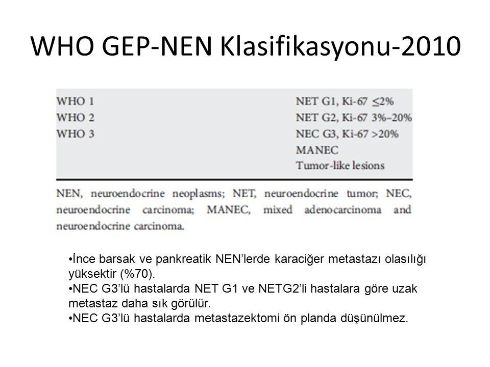WHO GEP-NEN Klasifikasyonu-2010