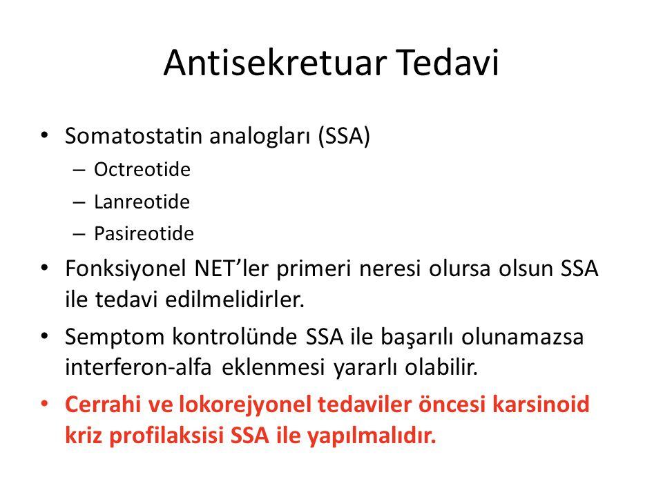 Antisekretuar Tedavi Somatostatin analogları (SSA)