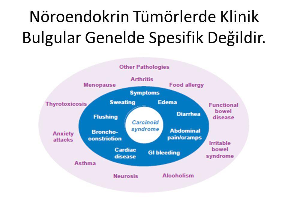 Nöroendokrin Tümörlerde Klinik Bulgular Genelde Spesifik Değildir.