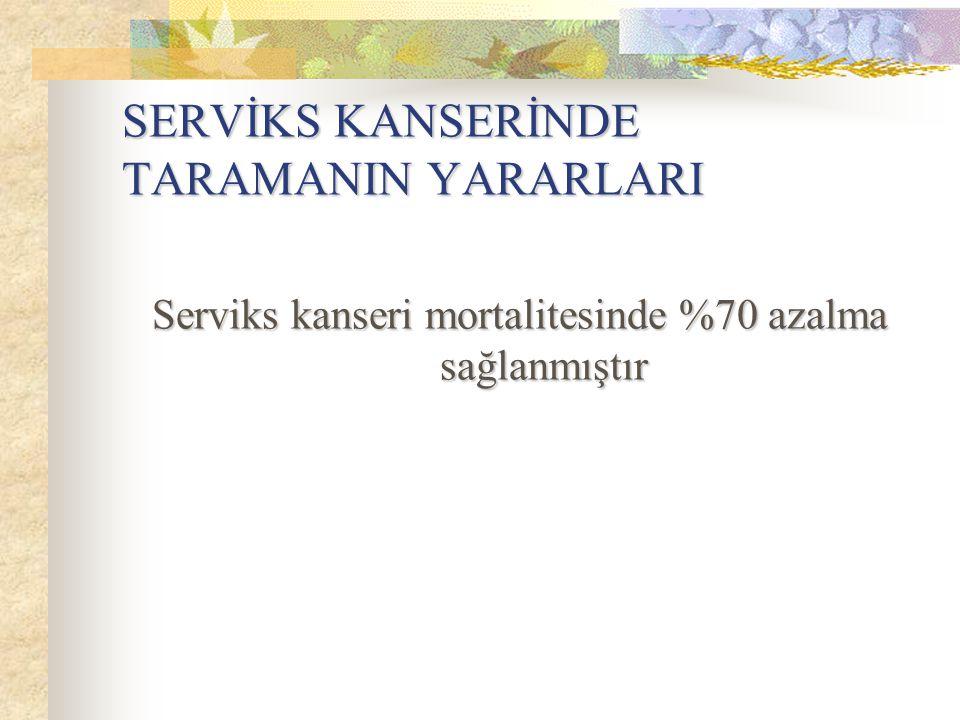 SERVİKS KANSERİNDE TARAMANIN YARARLARI