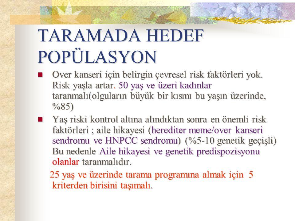 TARAMADA HEDEF POPÜLASYON
