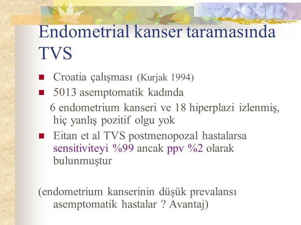 Endometrial kanser taramasında TVS