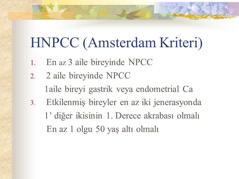 HNPCC (Amsterdam Kriteri)