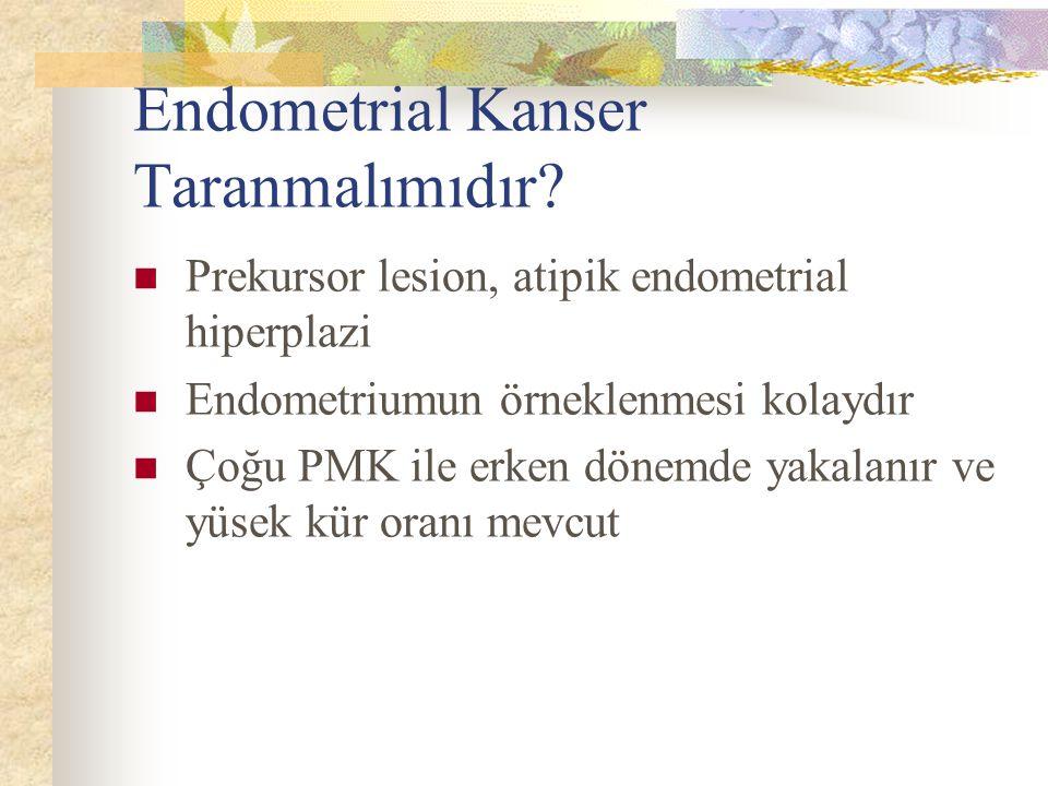 Endometrial Kanser Taranmalımıdır