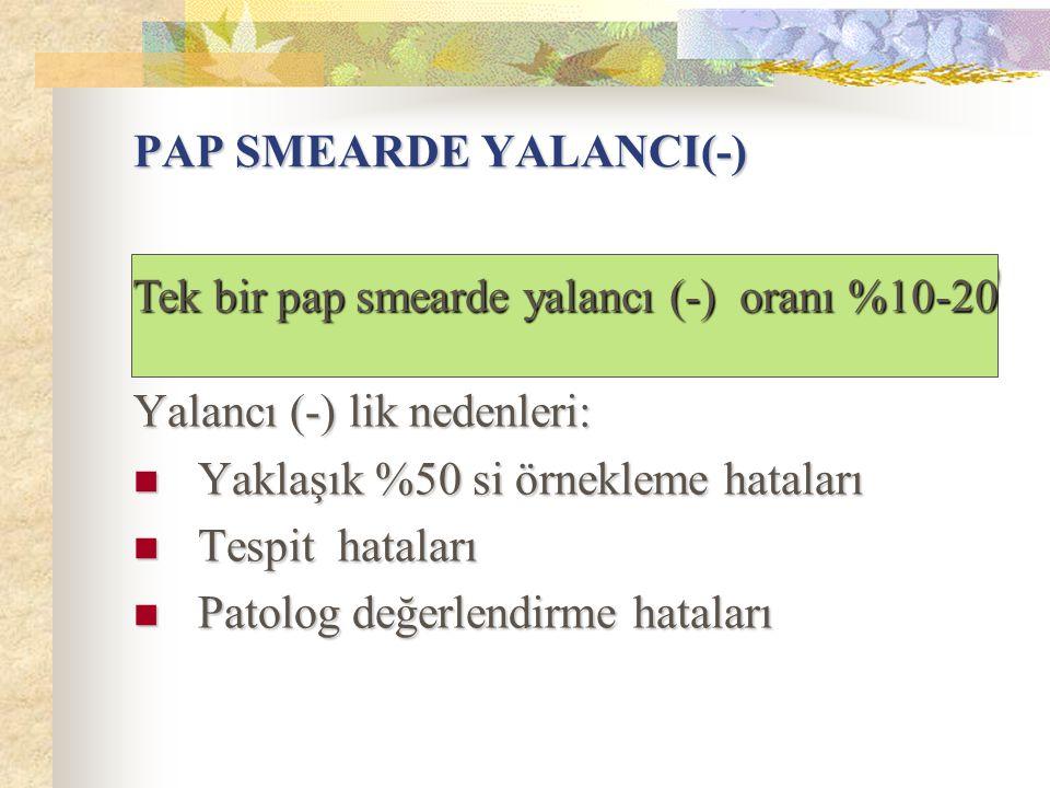 PAP SMEARDE YALANCI(-)