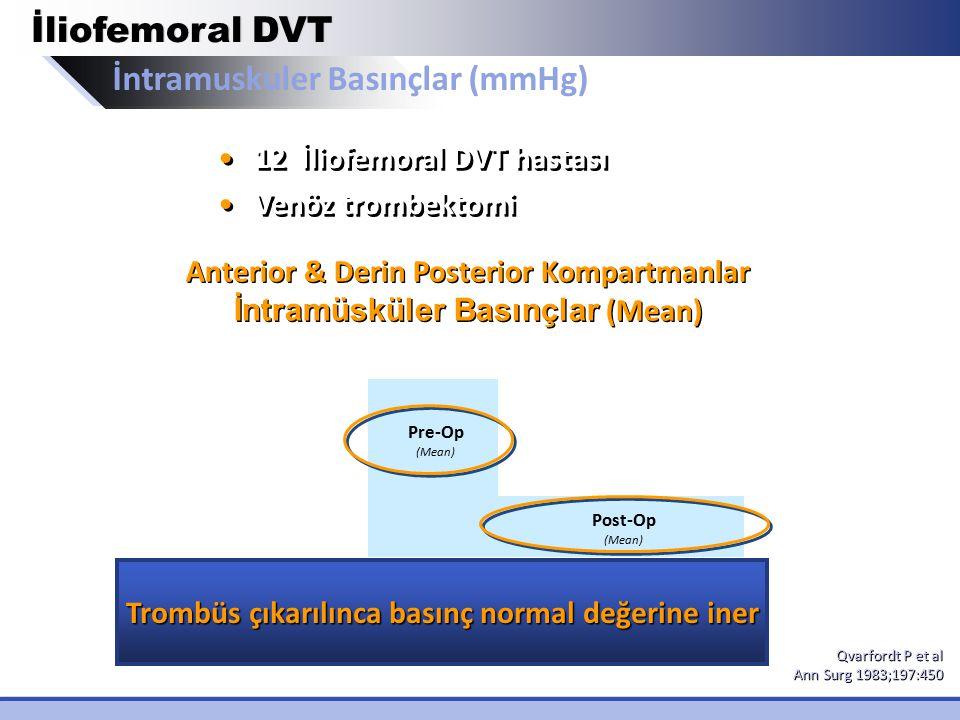 İntramuskuler Basınçlar (mmHg)