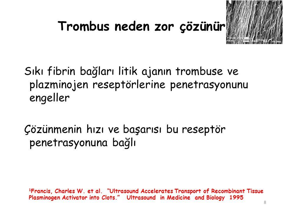 Trombus neden zor çözünür